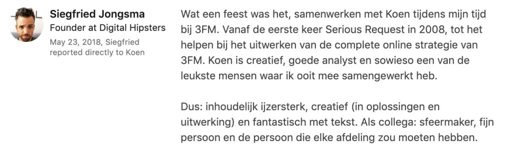 Koen Maas content marketeer of creative director